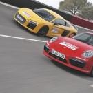 სუპერსპორტულების დუელი: Audi R8 VS Porsche 911 (+ ვიდეო)