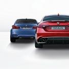 იტალიელი გერმანელების წინააღმდეგ: Alfa Romeo Giulia Quadrifoglio vs. BMW M3 vs. Mercedes-AMG C 63