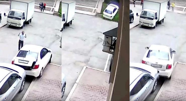 ქალმა მძღოლმა პარკინგზე 2 წუთში დაუჯერებელი ქაოსი მოაწყო